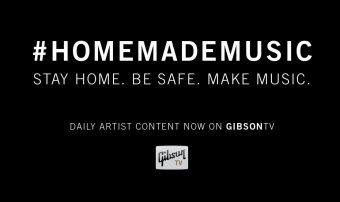 "GibsonTVの新プログラム ""ホームメイド・セッションズ""がスタート!ミュージシャンと音楽関係者は、#HomeMadeMusicのもと全世界で結束し、ミュージシャンをサポートし音楽による治癒力を広めます。"