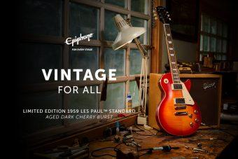 エピフォンからギブソン・カスタムショップとの初のコラボレーションにより誕生した 『Epiphone 1959 Les Paul Standard』がリリース