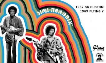 ギブソン・カスタムショップ製 シグネチャー・モデル 『Jimi Hendrix™ 1969 Flying V in Aged Ebony』 『Jimi Hendrix™ 1967 SG Custom in Aged Polaris White』 2モデルが同時リリース