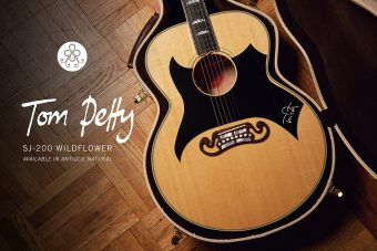 ギブソンから、トム・ペティのシグネチャー・モデル 『Tom Petty SJ-200 Wildflower』がリリース